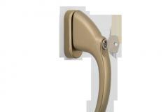 Abschließbarer Fenstergriff standard (oliv)