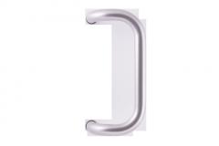 Stoßgriff für eine Haustür M2 (silber)